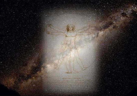 The Vitruvian Man and Milky Way